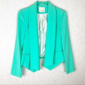 Mustard Seed mint green open blazer